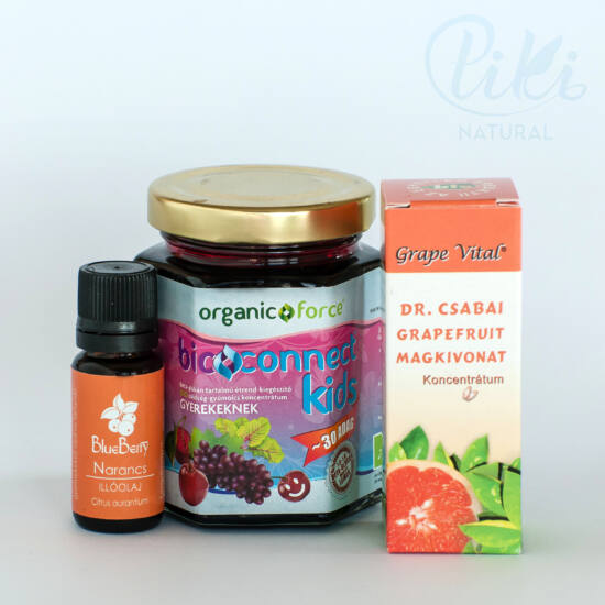 Grape Vital Grapefruit magkivonat, Bioconnect bio zöldség-gyümölcs koncentrátum + AJÁNDÉK választható BlueBerry illóolaj