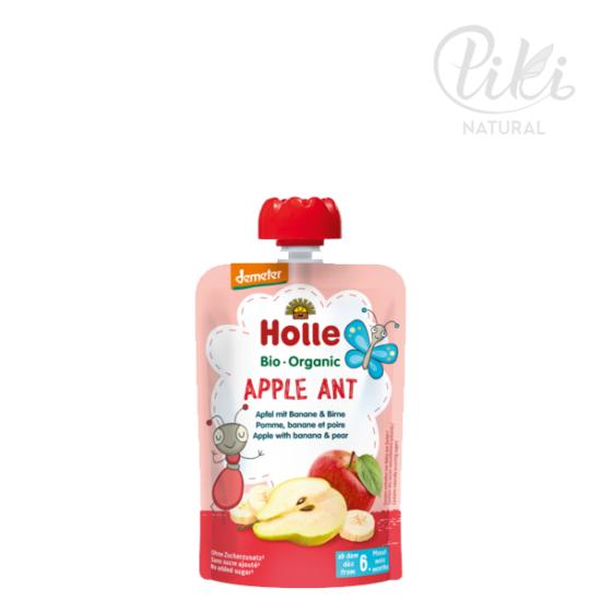 APPLE ANT alma, banánnal és körtével - BIO gyümölcspüré- 100g - HOLLE