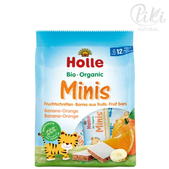 HOLLE BIO mini gyümölcsszelet Banán-Narancs - 8 x 12,5g