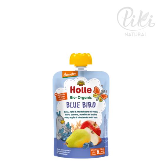 BLUE BIRD körte & alma, áfonyával és zabbal -BIO gyümölcspüré- 100g –HOLLE