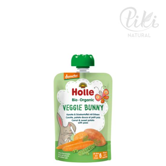 VEGGIE BUNNY sárgarépa édesburgonyával és borsóval -BIO püré- 100g –HOLLE