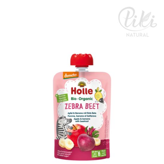 ZEBRA BEET alma banánnal és céklával - Bio gyümölcspüré – 100g -HOLLE