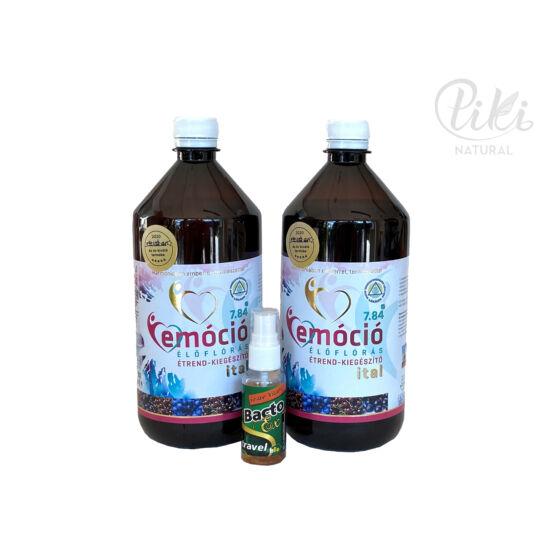 2 db Emóció 7.84 élőflórás, magas antioxidáns tartalmú étrendkiegészítő ital (1+1 liter) AJÁNDÉK Bacto Ex travel kézfertőtlenítő