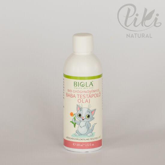 PRÓBATERMÉK - Bio gyógynövényes baba testápoló olaj (100 ml) - BIOLA