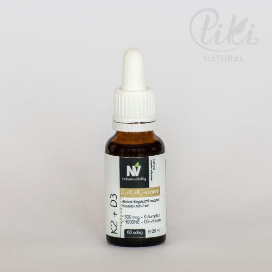 K2 D3 étrendkiegészítő cseppek (20 ml)